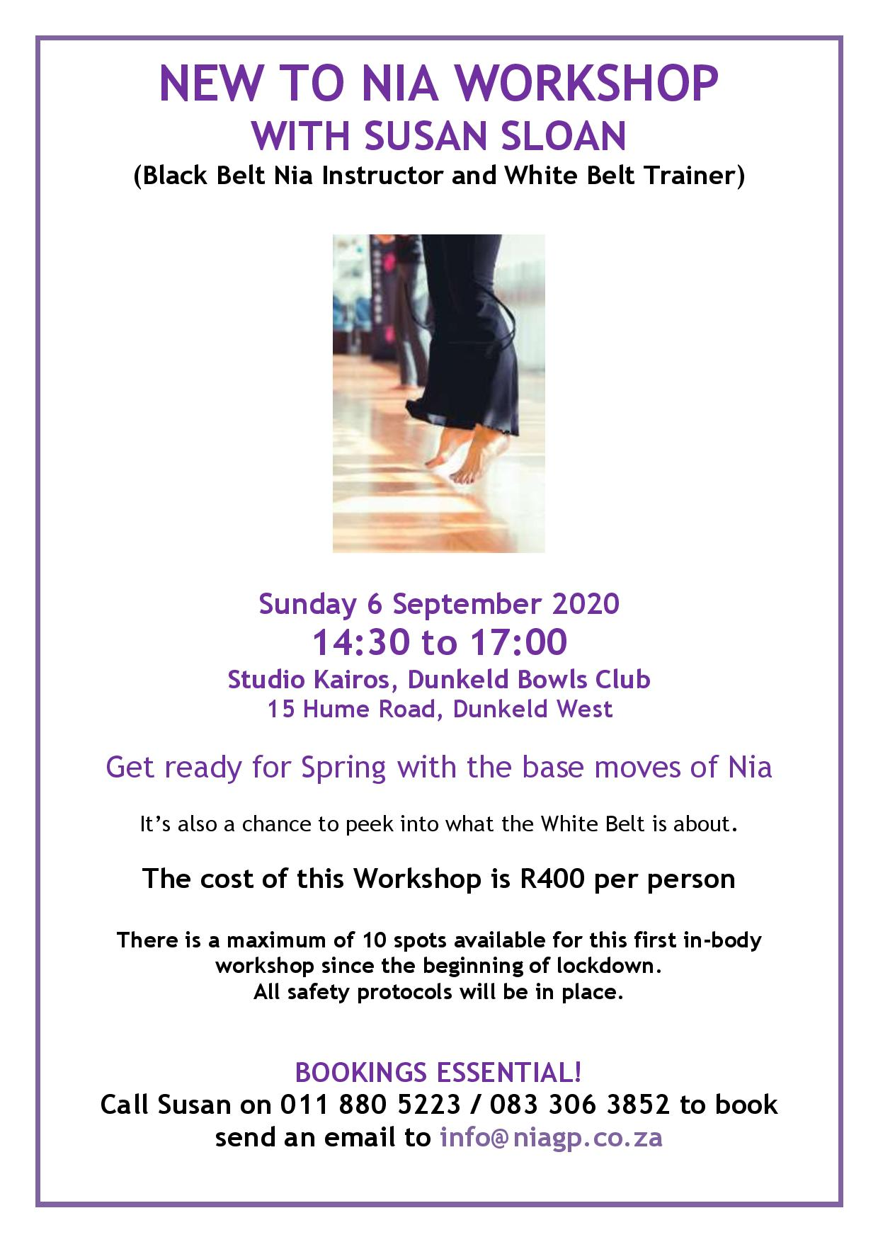 New to Nia Workshop September 2020