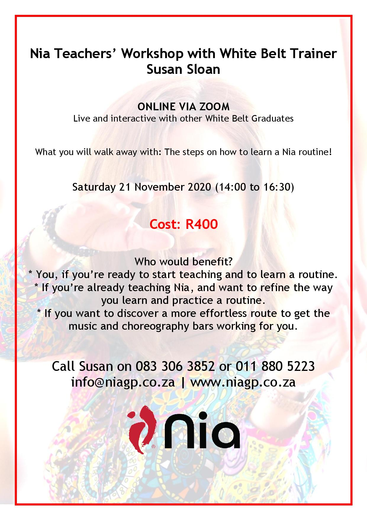 Nia teachers programme – November 2020